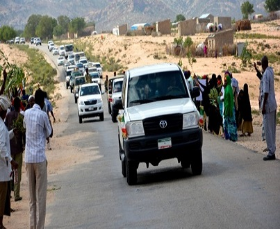 President Silaanyo of Somaliland unveil rehabilitated road